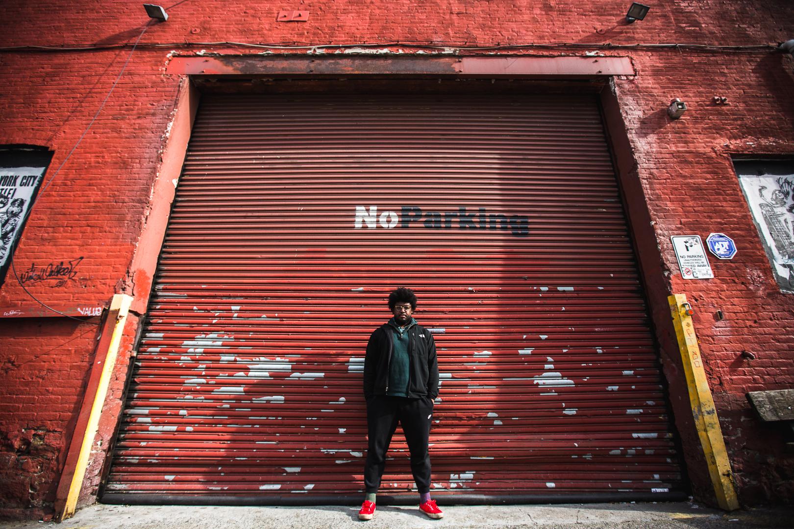 Porträt New York Männlich Outdoor